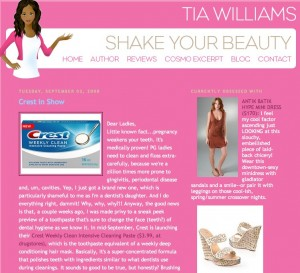shake your beauty  crest in show 300x273 The Official Toothpaste of Social Media