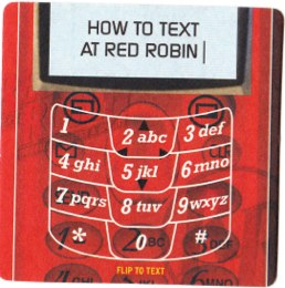 red robin txt message1 Red Robins Email Program Has a Broken Wing