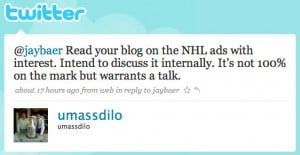 twitter   umassdilo  jaybaer read your blog on 300x155 Why Twitter Is the Anchor of the Social Media Team