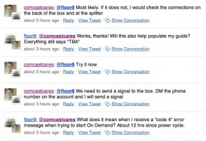 comcastcares floor9 twitter search 300x206 The Paradox of Social Media Control