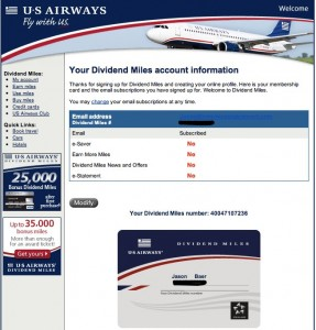 your dividend miles account information e28094 inbox 287x300 Mobile Opt in Flies at US Airways