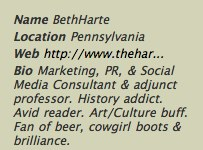 twitter   bethharte 7 Ingredients in the Perfect Twitter Profile