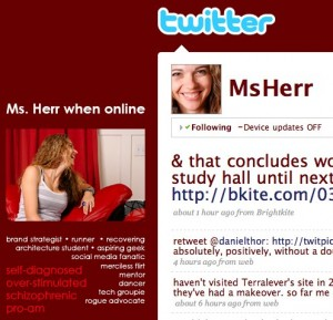 twitter   msherr 300x289 7 Ingredients in the Perfect Twitter Profile