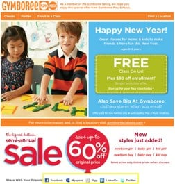 gymboree Social Media Adds Viral Frosting to the Email Cake