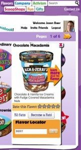 social media strategy ben and jerrys1 163x300 Taking Consumer Reviews Viral with Facebook