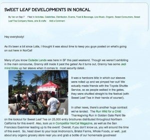 The Sip  The Sweet Leaf Tea Blog 300x281 Make it Bigger   The 4 Types of Corporate Blogs