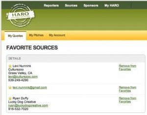 HARO Favorite Sources 300x235 HARO Gets Serious About Crowd Sourced Journalism