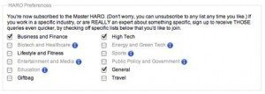 HARO Preferences 300x107 HARO Gets Serious About Crowd Sourced Journalism