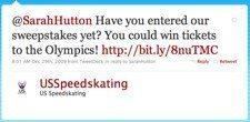 Twitter   US Speedskating  @SarahHutton Have you ente ... US Speedskating Finds Fans In Social Media