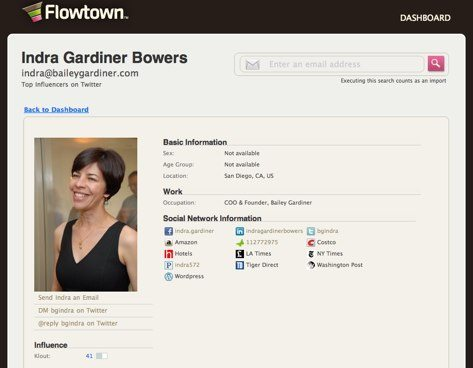 Indra Gardiner Bowers   Flowtown 1 Integrating Email and Social Media with Flowtown