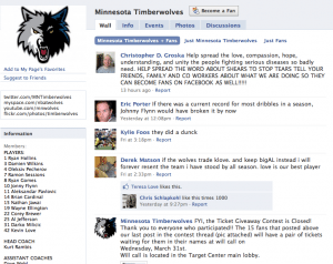Facebook Minnesota Timberwolves 300x238 Get Your Social Media Story Straight