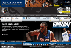 THE OFFICIAL SITE OF THE MINNESOTA TIMBERWOLVES 300x205 Get Your Social Media Story Straight
