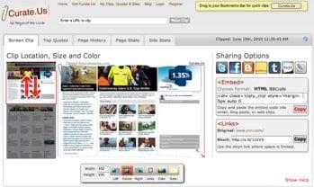 Curate.Us social media tools