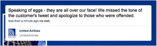 Twit Happens: United Airlines apology