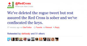 American Red Cross twit happens