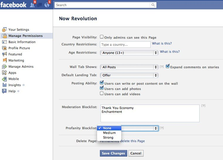 Facebook Moderation BlockList