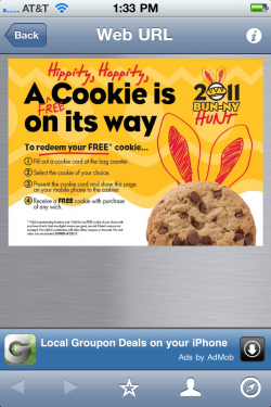 Which Coupon e1303662316696 An Easter Surprise, Using QR Codes for Instant Sampling