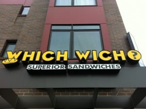 Which Wich 300x224 An Easter Surprise, Using QR Codes for Instant Sampling