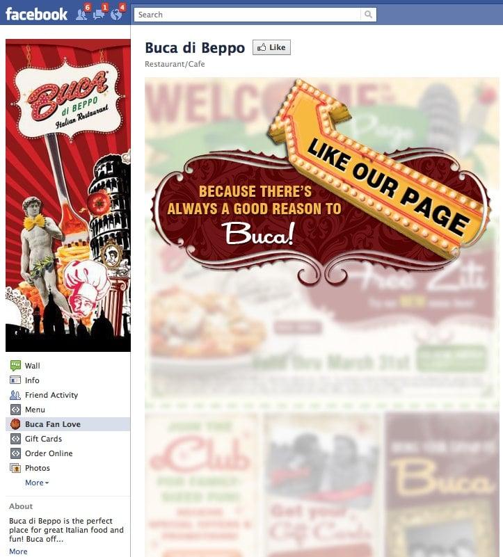 Buca di Beppo Facebook