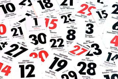 social media events calendar