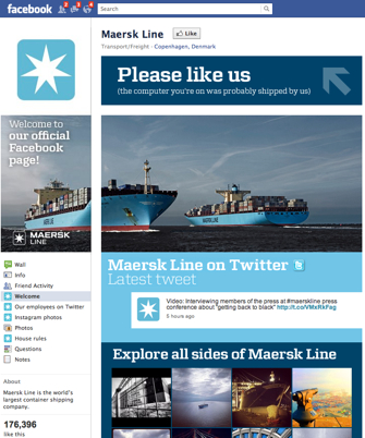 Maersk Line on Facebook