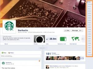 9 Starbucks 1 300x223 14 Ways New Facebook Betrays Small Business