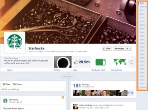 9 Starbucks 1 300x223 14 Ways New Facebook Betrays Small Business