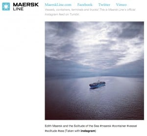 Maersk Line 300x279 Social Pros 6   Instagram Lessons from a Giant B2B Company