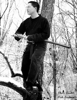 There goes Chris Penn standing on a tree. N-I-N-J-A-I-N-G