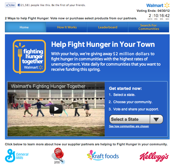 Walmart Fight Hunger Contest
