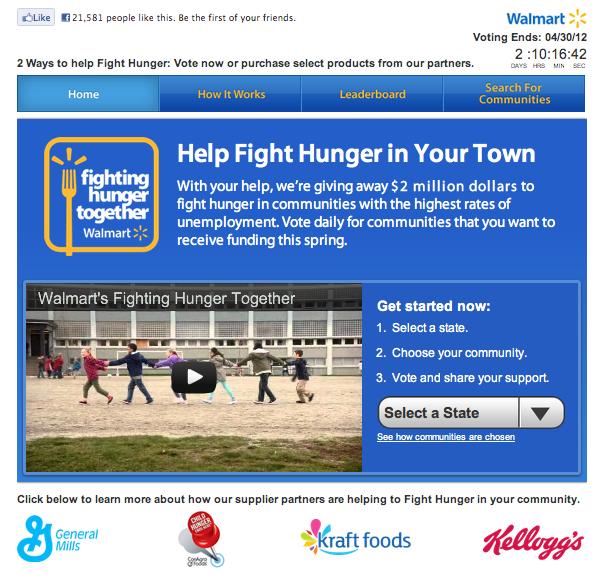 Walmart Fight Hunger Contest