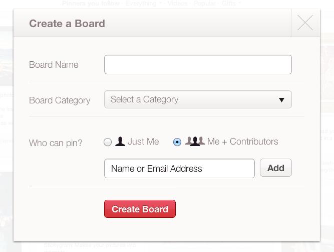 Create a collaborative pinboard