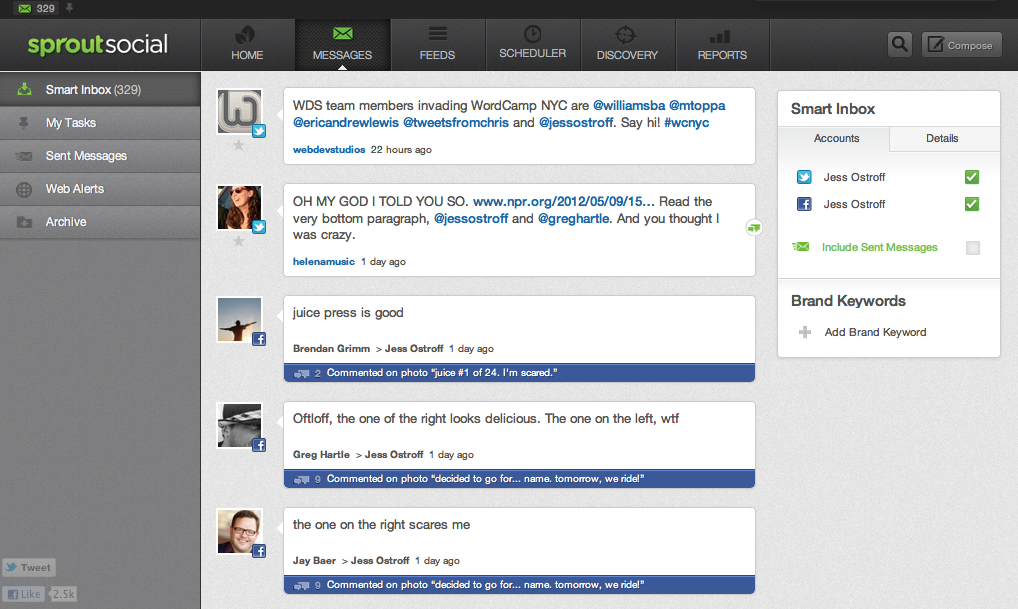 SproutSocial Messages