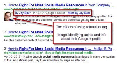 Google Author Example Boosting Content and Fighting Spam Using Google Author Rank