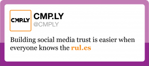 CMPLY Rules Tweet 300x134 The Carrot and Stick of Social Media Disclosure