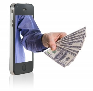 bigstock Giving Money Over Smart Phone 8949652 300x295 Social Pros 24   Shawn Morton, JPMorgan Chase