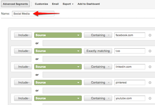 AdvancedSegments The 5 Top Google Analytics Reports for Social Media Marketers
