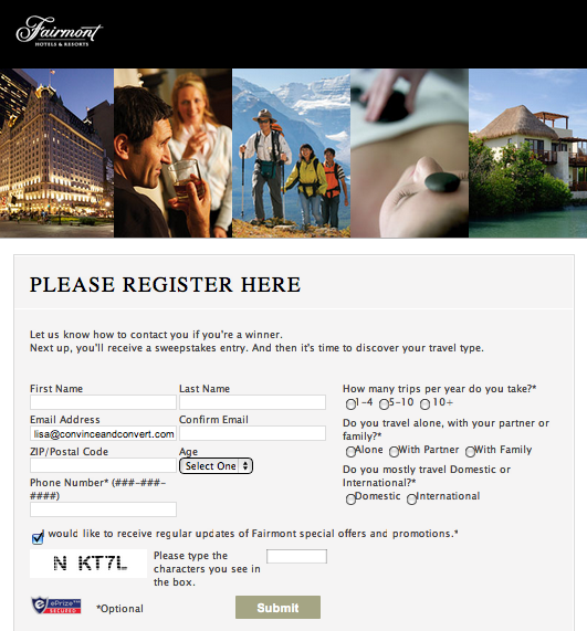 Picture 30401 How Fairmont Hotels Used Facebook Contest to Segment Audiences