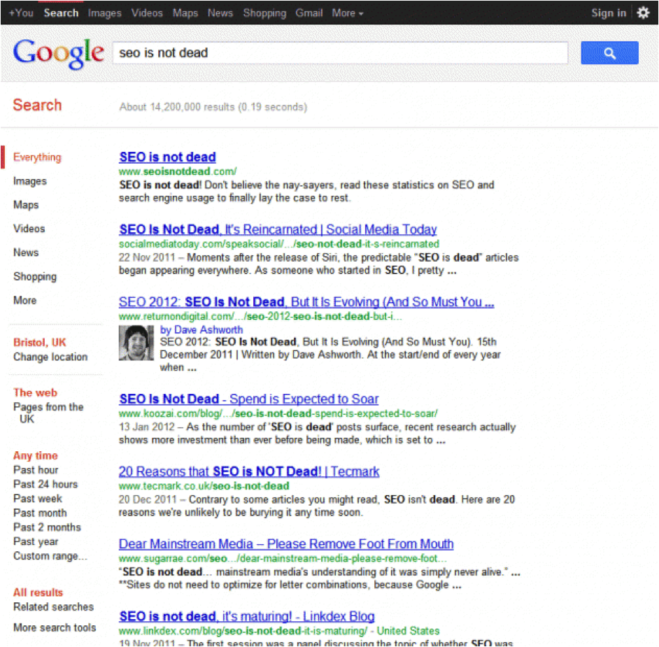 Rich Snippets SEO is Not Dead