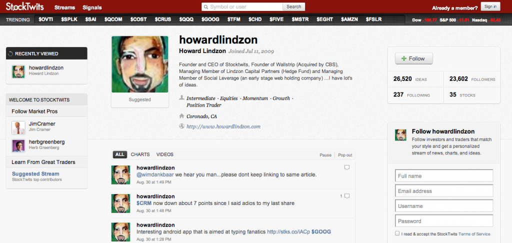 Screen Shot 2012 08 30 at 9.17.16 PM 1024x486 Social Pros 31   Howard Lindzon, StockTwits