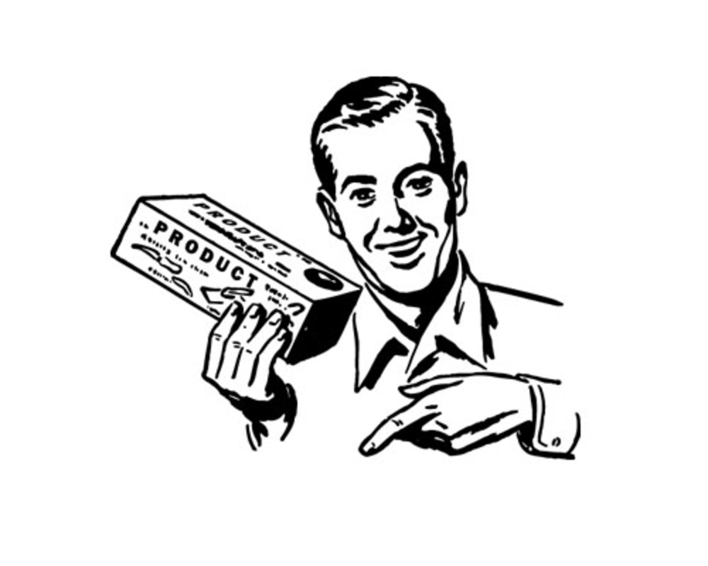 bigstock Salesman Retro Clip Art 17343650 Has Social Media Made Your Sales Team Obsolete?
