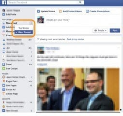 Facebook Most Recent Top Stories Mechanism