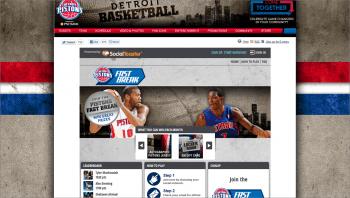 SocialToaster Signup for Detroit Pistons