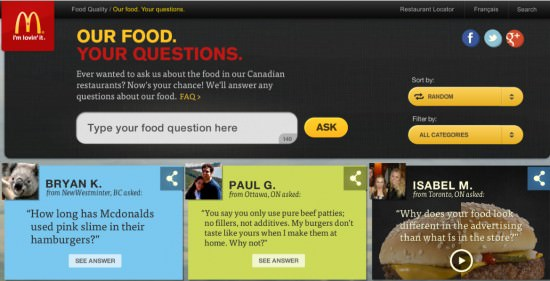 McDonalds Our Food Your Questions
