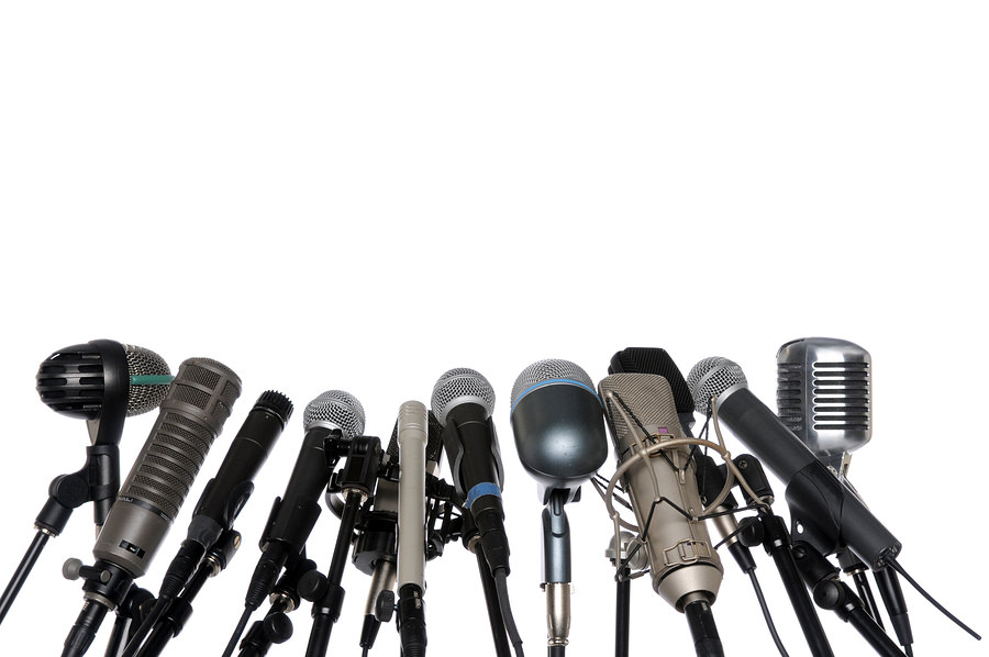 bigstock Microphones At Press Conferenc 4623006 Striking a Content Chord with Color Commentary