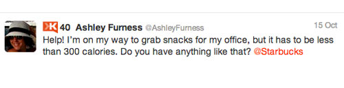 Ashley Starbucks interactio 4 Customer Service Lessons from the Biggest Brands on Twitter
