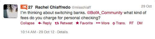 Rachel BofA interaction 4 Customer Service Lessons from the Biggest Brands on Twitter