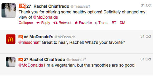 Rachel McDonalds interactio 4 Customer Service Lessons from the Biggest Brands on Twitter