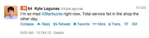 kyle starbucks 4 Customer Service Lessons from the Biggest Brands on Twitter