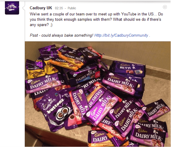 Cadbury's Crave-Worthy Pile of Candy
